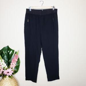 Zara Black Elastic Waist Trouser Pants